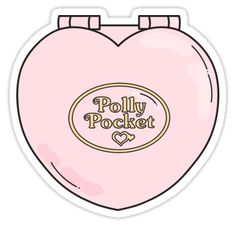 """""""Polly Pocket Compact - Pink"""" Stickers by missfitzdesigns Doodle Cartoon, Tumblr Stickers, Aesthetic Stickers, Kawaii Drawings, Creative Activities, Feeling Sad, Scrapbook Stickers, Pink Aesthetic, Thing 1"""