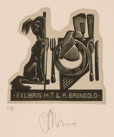 Exlibris by Ruslan Agirba for M.T. & R. Brondolo