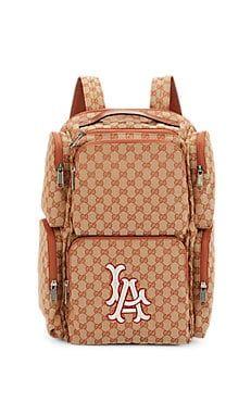 c6ad3e04d0b6 Gucci Men s LA DodgersTM GG Supreme Backpack - Lt. brown in 2019 ...