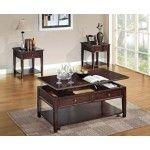 Acme Furniture - Malachi 3 Piece Occasional Table Set in Walnut - 80255-3SET