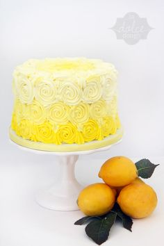 Lemons and cake and ombre - yes!