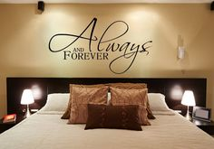Bedroom Wall Decal Always and Forever by FourPeasinaPodVinyl