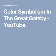 an analysis of symbolism in the novel the great gatsby by fscott fitzgerald F scott fitzgerald manages to define, praise, and condemn what is known as the american dream in his most successful novel, the great gatsby the novel is set in 1922, and it depicts the american.