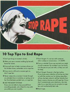 Best anti-rape poster ever.
