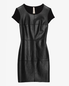 Bailey44 EXCLUSIVE Leather Look Front Dress at INTERMIX #Bailey44 Bailey 44