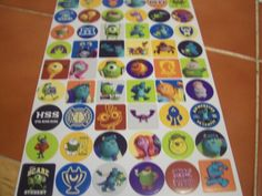 Lots of Monsters Inc Stickers
