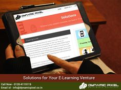 E-learning has been a prolific move considering the fact that it has been the key towards implementation of a learning platform to millions of people across the world.  Here are, Solutions for Your E-Learning Venture - goo.gl/5IsI3N
