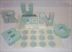 Letras corpóreas de papel - Baby Shower - Verde Menta