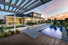 The stunning pool for the West Aussie dream backyard. Ventura Homes, Storey Homes, Display Homes, Western Australia, Perth, Backyard, House Design, Entertaining, Mansions
