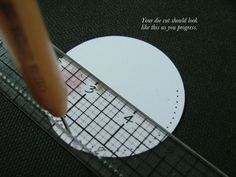 how to make perfectly even piercing holes on a circle