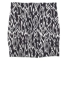 tribal black and white bodycon skirt.