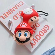 Super Mario Toad Airpod Case, Cover and Holder - Cute and Stylish! Compatible with Apple Airpods 1 a Bluetooth Wireless Earphones, Headphones, Earphone Case, Mario Bros., Air Pods, Airpod Case, Super Mario Bros, Apple Products, Colorful Decor