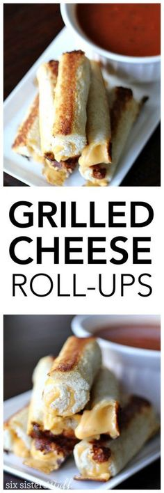 Grilled Cheese Roll-Ups  from SixSistersStuff.com | Kid Approved Lunch | Winter Meal Ideas | Dinner Recipes