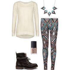 Tween fashion Cream and aztec