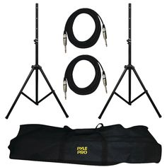 Pyle Pro Heavy-duty Pro Audio Speaker Stand & 1 And Cable Kit (pack of 1 Ea) Pro Audio Speakers, Great Speakers, Monitor Stand, Speaker Stands, All In One, Cool Things To Buy, Stage, Cable, Kit