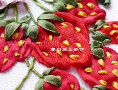 Silk ribbon Embroidery                                                                                                                                                                                 More