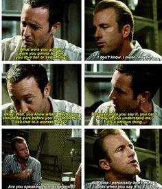 The 'Woman' talk. Hawaii Five-0
