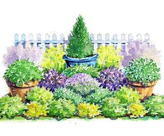 Colorful Herb Garden Plan Get an herb garden that not only smells and tastes delicious, but also looks gorgeous!