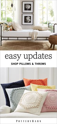 Looking to spruce up any room in your home? The magic word is pillow. A pillow or throw can accent plain couches and bedspreads; then voila, your living room will feel transformed. Shop the collection today to find the perfect shape, size, color and texture for your home.