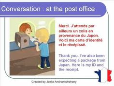 French Lesson 67 - At the post office - Formal Dialogue Conversation + English subtitles Language Study, French Language Learning, Learn French, Learn English, French Practice, French Conversation, Ontario Curriculum, French Classroom, French Teacher