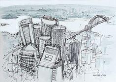 sydney buildings - sydney drawing