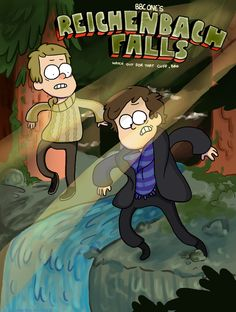 Hahaha!  Sherlock and gravity falls- although this is kind of painfully ironic...