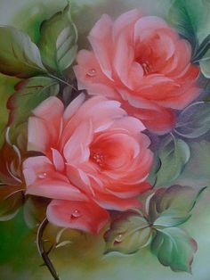 Pink Tango by Nancy Medina Art Floral, Using Acrylic Paint, Rose Art, China Painting, Fabric Painting, Beautiful Paintings, Vintage Flowers, Watercolor Flowers, Art Lessons