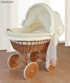 "A bassinet, bassinette, or cradle is a bed specifically for babies from birth to about four months, and small enough to provide a ""cocoon"" that small babies find comforting. Baby Boy Rooms, Baby Bedroom, Dream Baby, Baby Love, Modern Baby Cribs, Budget Nursery, Baby Staff, Baby Corner, Baby Canopy"