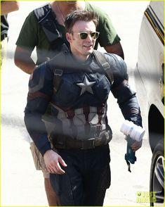 Marvel Civil War Set Photos