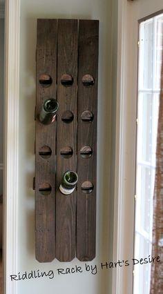 DIY Wine Rack via Hart's Desire