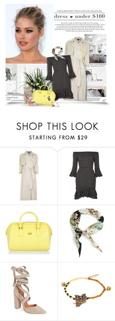 """""""Dresses Under $100"""" by thewondersoffashion ❤ liked on Polyvore featuring Topshop, Patrizia Pepe, Ted Baker, Steve Madden, Marc Jacobs and Barneys New York"""