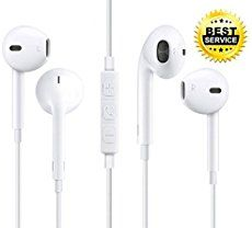 2 PACK Middox Tech Stereo series Earbuds with Microphone and Remote, Sound for IOS, Android, Note 4 5, galaxy s5 earbuds, Headphones and FREE Eva carry case (White) - Simple Shopping Lifestyles