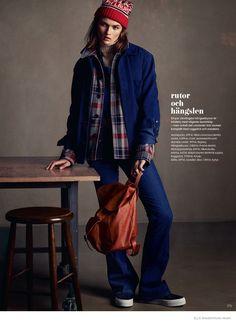 Lara Mullen in Sporty Denim for Elle Sweden by Honer Akrawi