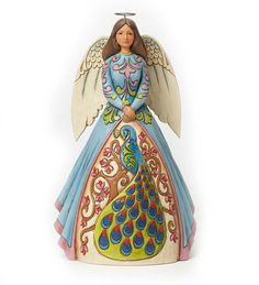 Jim Shore® Peacock Angel Figurine