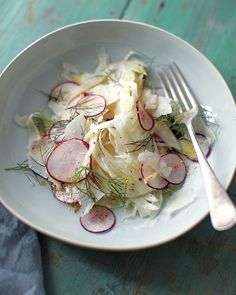 Shaved Radish, Fennel, and Parmesan Salad