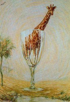 """""""el cuarto de baño de vidrio"""",  obras de René Magritte"""