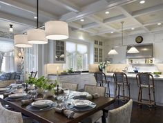 Love the L layout of kitchen to kitchen table to kitchen family room area.... but needs a hearth