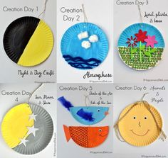 7 Days of Creation Craft. A simple way to teach the 7 Days of Creation to your S. - 7 Days of Creation Craft. A simple way to teach the 7 Days of Creation to your Sunday School Class. Toddler Sunday School, Sunday School Crafts For Kids, Bible School Crafts, Bible Crafts For Kids, Sunday School Activities, Vbs Crafts, Preschool Crafts, Creation Bible Crafts, Creation Preschool Craft