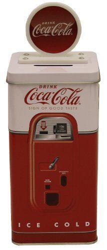 The Tin Box Company Coca Cola Tall Beverage Machine Bank $8.99