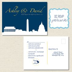 DC-inspired and oh how fun... Great idea for any recognizable city silhouette or venue