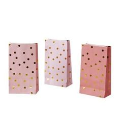Designer Party Supplies - Lolly Bags - Gorgeous pack of ten Gold Spot Lolly Bags from the very best in designer party products, Poppies For Grace! Each pack contains ten flat based lolly bags featuring gold foil spots in three shades and a flat base so they stand alone filled with goodies on your dessert table! Perfect for everything from first birthday parties to baby and bridal showers! #designerpartysupplies #lollybags #bridalshower #kidsparties #littlebooteek