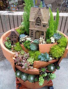 Mini jardim de plantas do tipo 'suculentas '