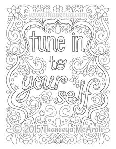 Coloring page from Thaneeya McArdle's Follow Your Bliss Coloring Book - See a slideshow of all the pages in the book on www.thaneeya.com!