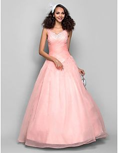 Prom/Formal Evening Dress - Ball Gown Straps Floor-length Or... – USD $ 179.99