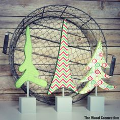 The Wood Connection - Trio of Trees , $8.85