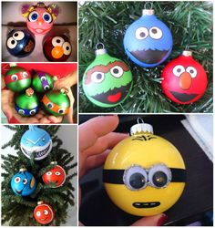 Character Christmas Tree Ornaments!