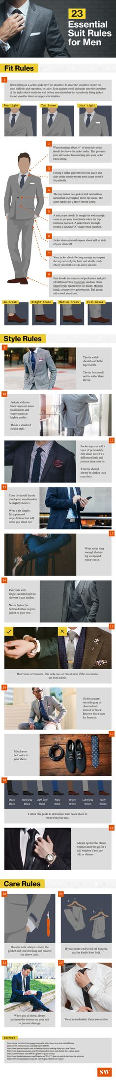 23 essential suit rules for men [infographic]