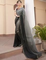 Black Color Georgette Party Wear Sarees :  Shehnaz Collection  YF-42424