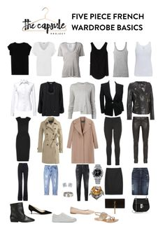 Basic Five Piece French Capsule Wardrobe. Head to the blog to see how to integrate 5 top fall trends to create new looks! #capsulewardrobe #fall2015 #falltrends