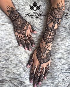 Pin For Trend Presented Henna Tattoo Designs Collection 2019 - Latest Henna Designs - Henna Ideas 2019 (Beautiful Henna Designs Henna Tattoo Hand, Henna Tattoo Designs, Henna Tatoos, Latest Henna Designs, Full Hand Mehndi Designs, Henna Body Art, Bridal Mehndi Designs, Henna Mehndi, Henna Art